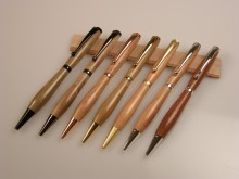 Timberly wooodturning supplier to www.woodcraftpens.co.nz Pens by Tony Cheyne