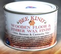 Wooden Floor & Timber Wax Finish with Beeswax & Carnauba Wax - suited to walls, ceilings, doors, moldings and timber panels, hardwood floors, softwood floors, timber walls, stone, concrete, bamboo flooring, vinyl flooring, oak flooring, native wood flooring and cork flooring. Not for use on top of laminate flooring.