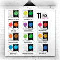 EYE CANDY GLOW IN THE DARK BOX SET 11 COLOURS X 5G ECC-02027-05